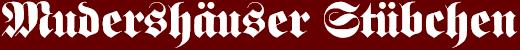 Mudershäuser Stübchen logo